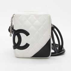 CHANEL Cambon Shoulder bags White Leather A25177