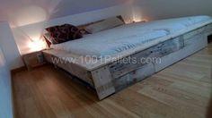 Pallet bed frame   1001 Pallets