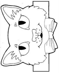 bandas de personajes de cuentos Animal Projects, Animal Crafts, Beach Crafts For Kids, Art For Kids, Cat Headband, Paper Bag Puppets, Childrens Artwork, Farm Crafts, Animal Activities