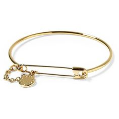 Marc by Marc Jacobs Safety Pin Bracelet ❤ liked on Polyvore featuring jewelry, bracelets, oro, brass jewelry, marc by marc jacobs, marc by marc jacobs jewelry, brass bangles and marc by marc jacobs bangle