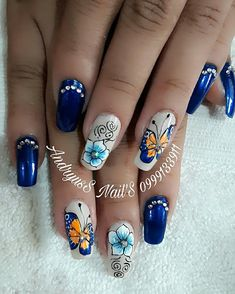 88 Me gusta, 0 comentarios - andryuss_nails (@andryussnails) en Instagram Cute Spring Nails, Wedding Nails Design, Nailart, Finger, Nail Designs, Instagram Posts, How To Make, Beauty, Blue Nail Beds