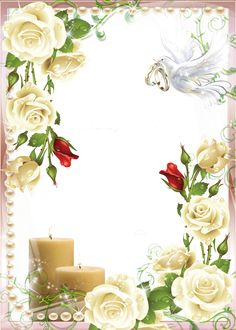 Soft Wedding Photo PNG Frame
