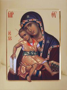Byzantine Icons, Byzantine Art, Religious Icons, Religious Art, Orthodox Catholic, Madonna And Child, Catholic Prayers, Blessed Virgin Mary, Orthodox Icons