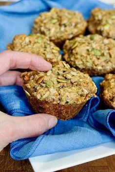 1 Bowl Vegan Morning Glory Muffins Vegetarian Muffins, Veggie Muffins, Gluten Free Muffins, Vegetarian Recipes, Vegan Meals, Healthy Muffin Recipes, Healthy Muffins, Healthy Breads, Brunch Recipes