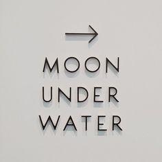 Moon under water Gfx Design, Logo Design, Signage Design, Type Design, Environmental Graphics, Environmental Design, Modern Typography, Typography Letters, Theatre Logo