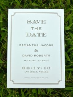 Gatsby Save the Date by dhfitzgeralddesigns on Etsy, $25.00
