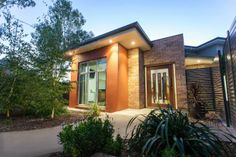 Realm Building Design Echuca - Blair street Moama - entrance - garden - lighting - façade -