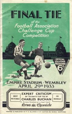 EVERTON V MANCHESTER CITY 1933 (F.A. CUP FINAL) FOOTBALL PROGRAMME
