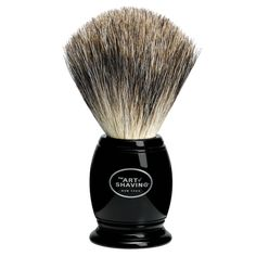The Art of Shaving Pure Badger Brush Description: The Art of Shaving manufactures and handcrafts each Shaving Brush using only the finest badger hair available. All of our brush handles are designed for elegance and durability, as well as for their Badger Shaving Brush, Wet Shaving, Shaving Kits, Travel Brushes, Best Shave, The Art Of Shaving, Art Of Manliness, Safety Razor, Style