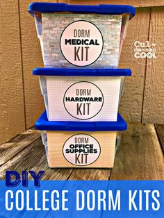 DIY College Dorm Kits As a mom who is sending her oldest off to college for the first time, my way of dealing with this, other than random bursts of crying at the weirdest times, is making sure my son is prepared for AN…