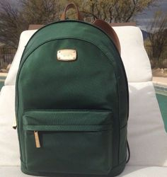 c7cb546d7139 Michael Kors Jet Set Item Large Moss Green Nylon Backpack Handbag for sale  online | eBay