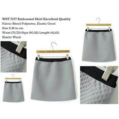 WST#7177 Embossed Skirt (Grey Dot) Only size S..Price 65K