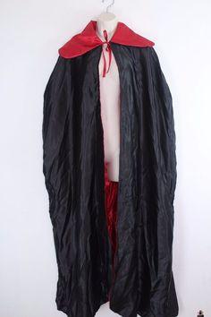 Adult Lined Vampire Cape Red Black Halloween Costume Cloak #Unbranded #Cloak