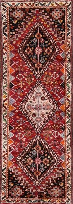 "Vegetable Dye Tribal Runner 2x6 Abadeh Nafar Persian Oriental Rug 6' 1"" x 2' 2"" #Persian #TraditionalPersianOriental"