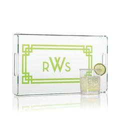 Graphic Rectangular Acrylic Tray | Mark and Graham - Great wedding/housewarming gift
