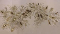 Embroidered Sequined Tulle Fabric White | Fabric | Calico Laine