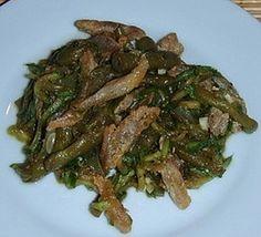 Теплый салат из стручковой фасоли