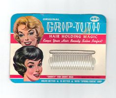 SALE  1950s Vintage Hair Combs Beauty Products by oldriverantiques
