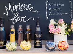 How to Stock the Ultimate Mimosa Bar for Your Wedding Morning   TheKnot.com