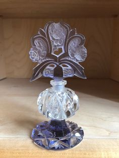 Antique Vintage Irving W Rice Co Irice Czech Bohemian Cut Crystal Perfume Bottle #IrvingWRice