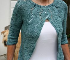 Vine Bolero sweater -- knitting pattern by Emily Johnson