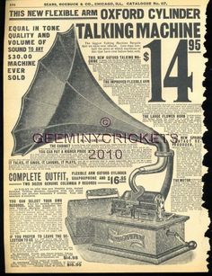 1908 Talking Machine Ad from Sears Catalog