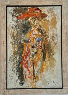 "Karel Appel - ""Janine"", 1962 -Oil on canvas - 195 x 130 cm Oil On Canvas, Painting, Art, Dutch, Art Background, Dutch People, Painted Canvas, Painting Art, Kunst"