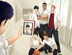slam dunk Slam Dunk Manga, Anime Manga, Anime Guys, Inoue Takehiko, Alice In Wonderland Drawings, Anime Stars, Anime Drawings Sketches, Manga Illustration, Cute Anime Couples