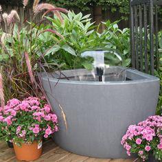 Algreen Hampton Urban Balcony Deck Pond With 500GPH Pump