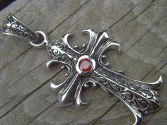 Beautiful cross in sterling silver by Billyrebs on Etsy, $49.00