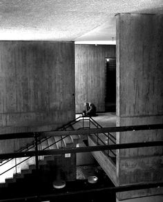Brutalism: A style of architecture which flourished from the 1950s to the mid 1970s, spawned from the modernist architectural movement.