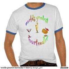 worlds greatest bartender t-shirt