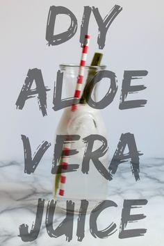 DIY Aloe Vera Juice