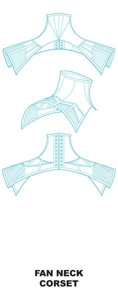 Corset pattern inc neck corsets