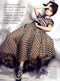 Jean Paul Gaultier burgundy and cream shirt and skirt. Vogue US March 2008   High Definition   Models by Craig McDean 크레이그 맥딘 : 네이버 블로그