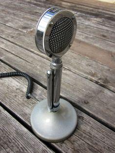 Retro Microphone. #microphone #mics #music #audio http://www.pinterest.com/TheHitman14/headphones-microphones-%2B/