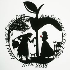 Custom wording on Snow Whites Apple design Disney Fantasy, Paper Cutting, Snow White Fairytale, Diy Paper, Paper Crafts, Snow White Apple, Disney Queens, Silhouette Art, Paper Dimensions