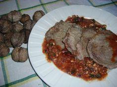 Escalopes de veau aux noix fraiches et basilic