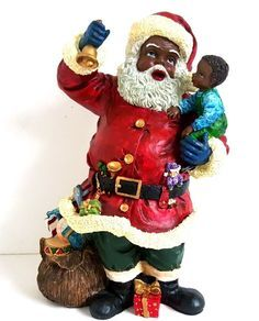180 Best African American Black Santas And Ornaments