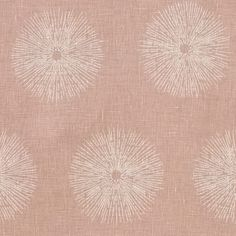 Sea Urchin linen fabric in pink / beige by Kelly Wearstler // #linen #pink #beige #fabric