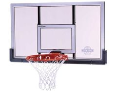 """""""This backboard combo from Lifetime Products features a 48 Steel-Framed Shatter Proof Backboard and a Slam-It Pro Rim. The backboard..."""""""""""""""