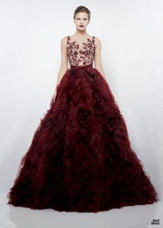 Zuhair Murad 2012/13 :: burgundy ballgown bliss