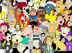 Do you like animations? Then look at it!!! It's 'family guy'. Very fun and you can learn English!!