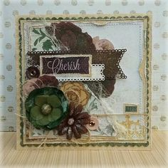"Another Romantic card for my social media work for **BoBunny** ""Rose Cafe""is such a adorable collection! Cherish Life, Romantic Cards, Vintage Cards, Scrapbooking Layouts, Grapevine Wreath, Grape Vines, Rose, Bunny, Beautiful"