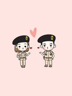 Chibi Yoon, chibi Sao Dae showing off their chibi love Descendants Of The Sun Wallpaper, My Shy Boss, Chibi, Descendents Of The Sun, Fanart, Cute Couple Art, Couple Wallpaper, Couple Cartoon, Couple Drawings