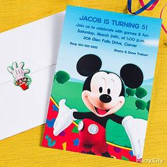 mickey mouse theme - invitations