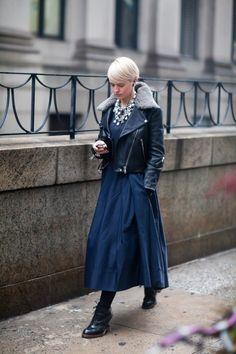 Dress + perfecto jacket