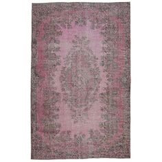 Cool Pink Floral Turkish Rug - $2,175 Est. Retail - $1,245 on Chairish.com