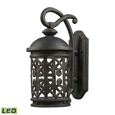 Tuscany Coast - LED 1 Light Exterior Wall Mount In Weathered Charcoal - 7221EW/71-LED