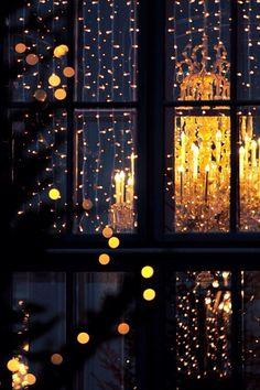 love Christmas photography winter lights light beautiful home decor vintage inspiration dream night wallpaper lightning Window candles gold wish golden blogger chandelier string of lights chain of lights